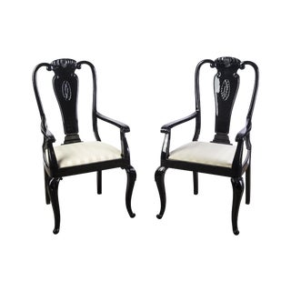 Ebonized Chippendale Dining Chairs- A Pair
