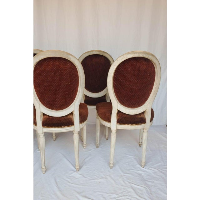White Set of 6 French Chairs For Sale - Image 8 of 13
