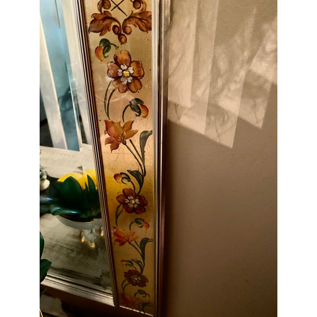 Labarge Vintage Labarge Eglomise Chinoiserie Mirror For Sale - Image 4 of 10
