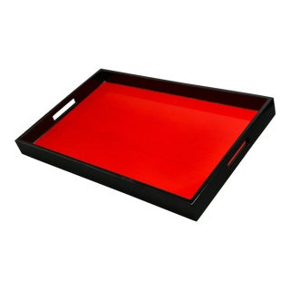 Modern Japanese Lacquered Serving Tray For Sale