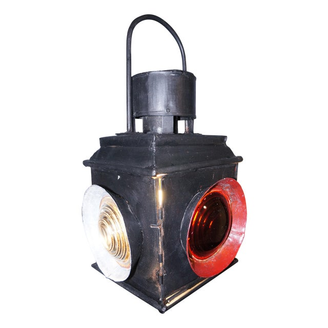 Antique Railroad Signal Light Table Lamp - Image 1 of 8