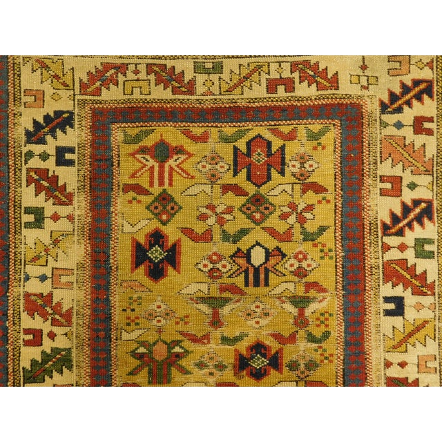 1900s Antique Caucasian Shirvan Runner For Sale - Image 4 of 13