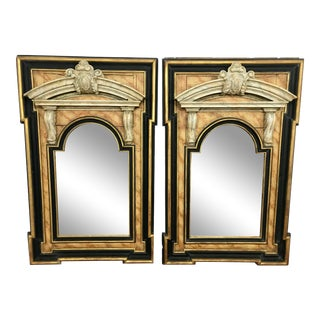 Italian 18th Century Neoclassical Mirrors a Pair For Sale