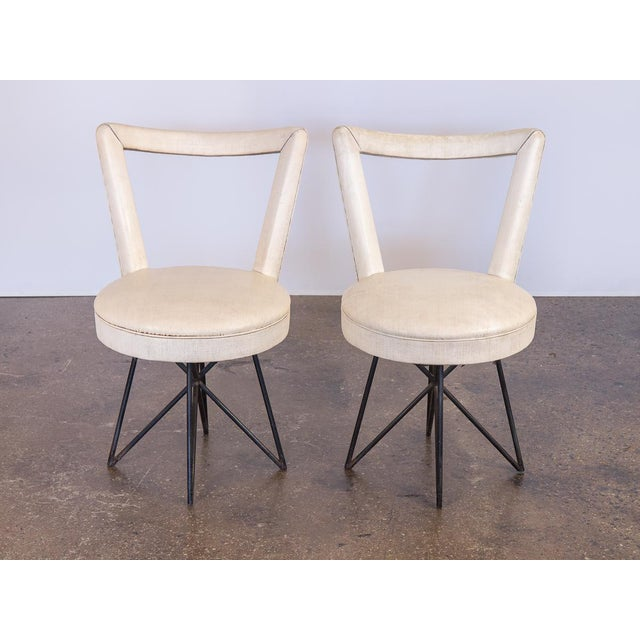 1950s Accent Chairs.1950s Occasional Side Chairs A Pair