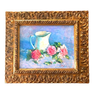 20th Century Impressionist Still Life Oil Painting For Sale