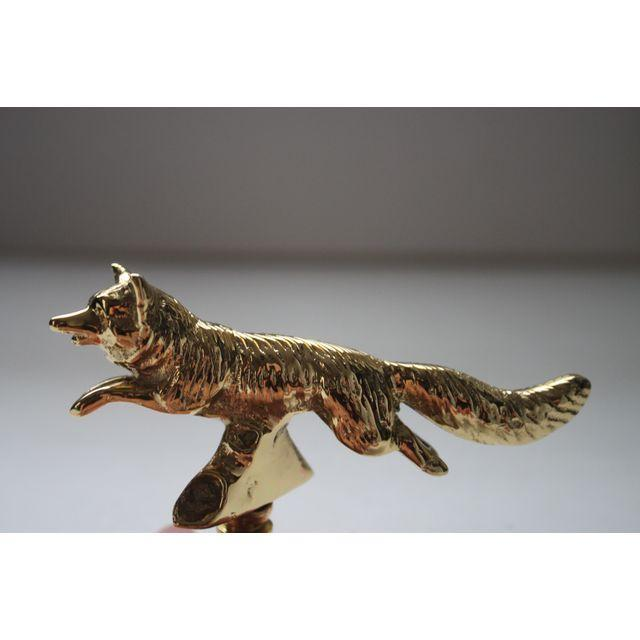 Solid Brass Fox Finials - Pair - Image 2 of 3