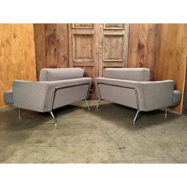 "Metal Late 20th Century Piero Lissoni for Cassina ""253 Nest"" Chairs- a Pair For Sale - Image 7 of 13"