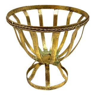 Gold Metal Bowl Stand Plant Holder For Sale
