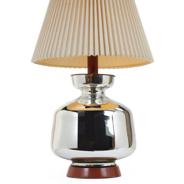 1970s Mercury Glass Table Lamp For Sale - Image 5 of 5