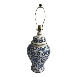 Blue & White Chinoiserie Table Lamp