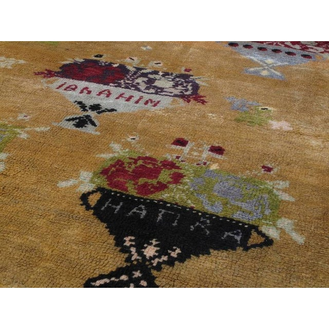 """Five Bouquet"" Tulu Rug For Sale - Image 4 of 9"