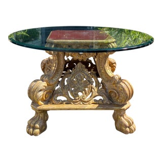 Quatrain Regency Giltwood Rococo Center Table For Sale