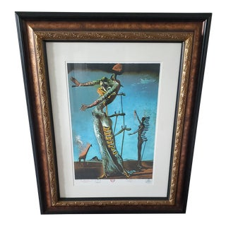 Framed Salvador Dali 'Burning Giraffe' Print For Sale
