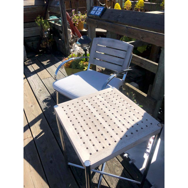 Nautical Summit Furniture Sundeck Folding Side Table For Sale - Image 3 of 5