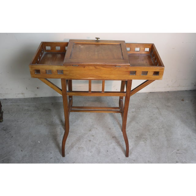 Brown 20th Century Italian Art Nouveau Sewing Table or Side Table For Sale - Image 8 of 10