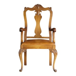Early 20th Century Antique French Provincial Carved Arm Chair For Sale
