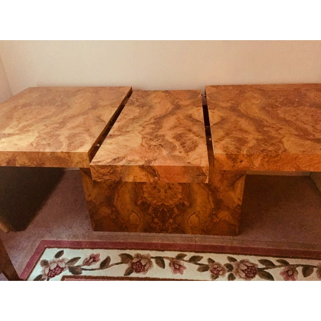 Vintage Mid Century Dining Rooms: Vintage Mid-Century Modern Burl Wood Dining Room Table