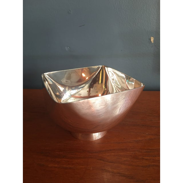 Ward Bennett Silverplate Bowl For Sale - Image 11 of 12