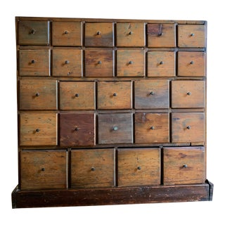 19th Century Antique American Apothecary Chest For Sale