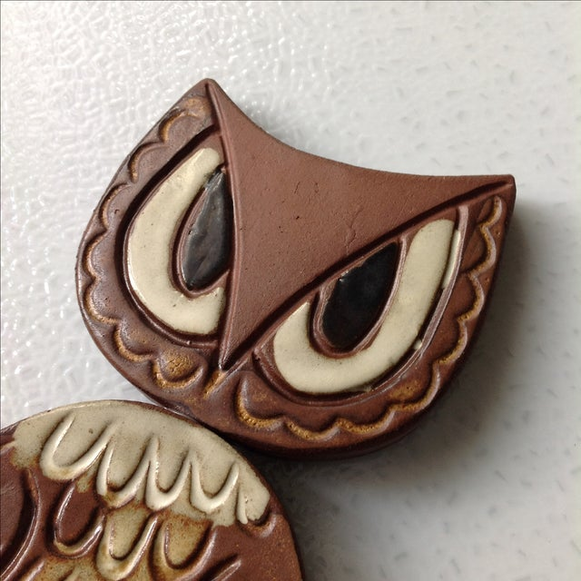 Mid-Century Modern Studio Pottery Owl Sculpture - Image 8 of 9