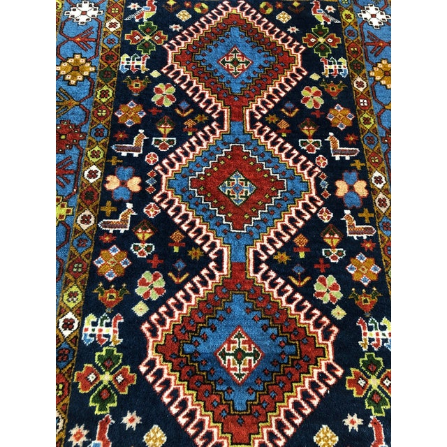 "1950s Vintage Hand-Knotted Wool Tribal Afshar Rug-3'6""x5'1"" For Sale - Image 4 of 13"
