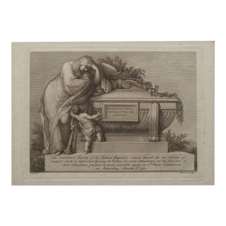 Engraved Admission Ticket for Funeral of Sir Joshua Reynolds Circa 1792 For Sale