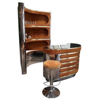 Willy Rizzo Rare Dry Bar and Storage, Italy, 1970s For Sale