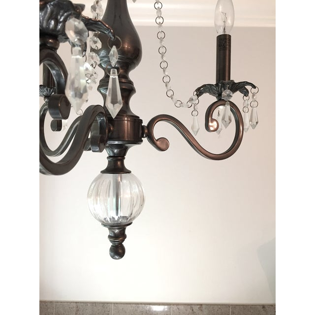 3 Arm Chandelier with Crystal Details - Image 5 of 6