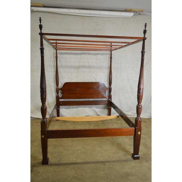 STORE ITEM #: 15990-ax Councill Craftsman Mahogany Queen Size Rice Carved Poster Bed AGE/COUNTRY OF ORIGIN – Approx 25...