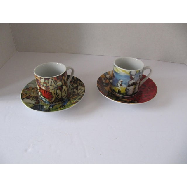 Yoryi Morel Arte de Cafe Limited Collection Cup Saucer Espresso Demitasse Set of 2 cups and 2 saucers. In original box,...