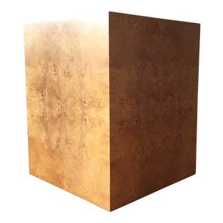 1970s Mid-Century Modern Milo Baughman Burl Cube Table For Sale