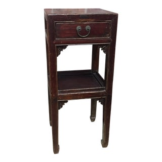19th Century Chinese Stand With Drawer and Shelf For Sale