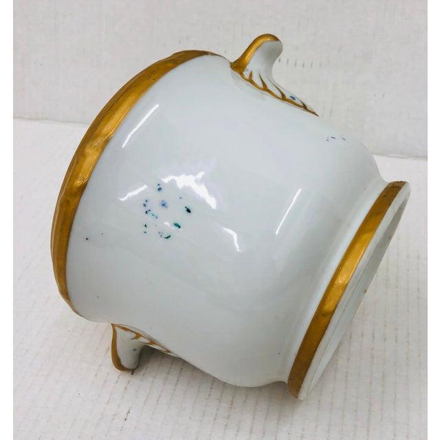 1900 - 1909 Antique Porcelain Cache Pot For Sale - Image 5 of 6