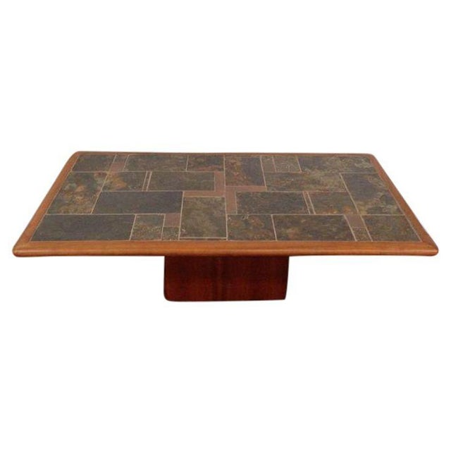 Mid-Century Carved Walnut Coffee Table - Image 1 of 5