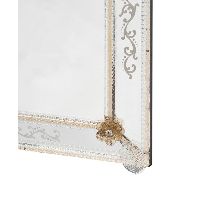 White Antique Venetian Mirror For Sale - Image 8 of 10