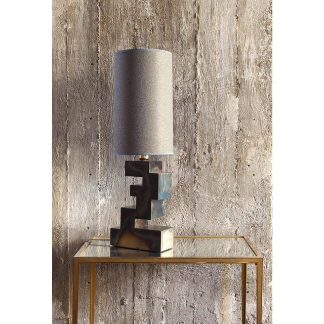 Hollywood Regency Pair of Stacks Table Lamp by Harry Clark For Sale - Image 3 of 4