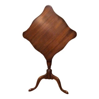 Vintage Mahogany Tilt Top Occasional Table For Sale