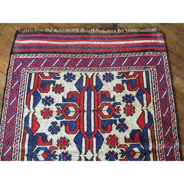 "Vintage Persian Soumak Kilim Rug - 3' X 4'8"" - Image 5 of 6"