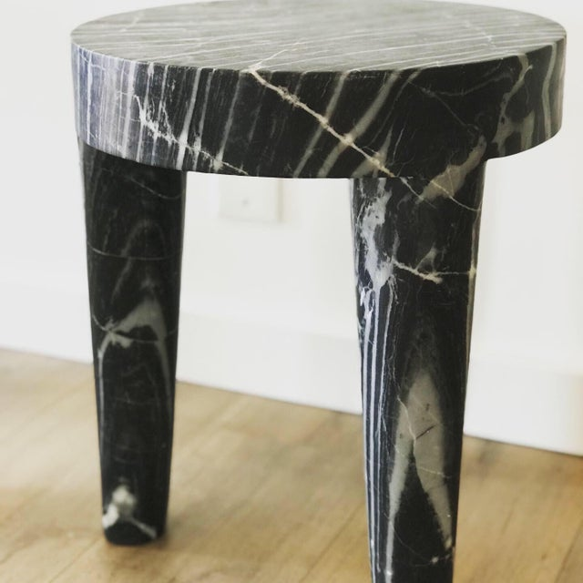 Post Modern Sculptural Marble Accent Table (2 Available) For Sale - Image 4 of 5