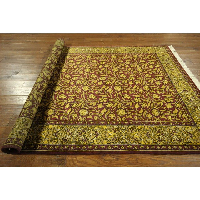 """Suzani Collection Oushak Floral Rug - 6'2"""" x 8'10"""" - Image 9 of 10"""