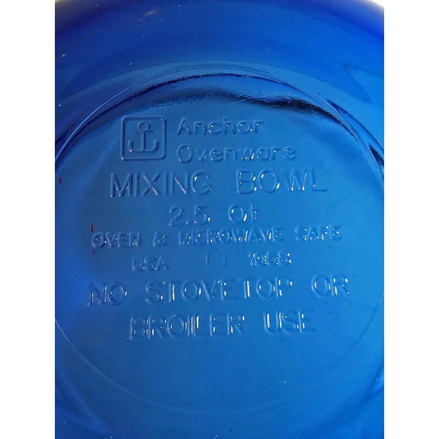 1970s Vintage Anchor Hocking Cobalt Blue Glass Mixing Bowls - Set of 3 For Sale - Image 5 of 6