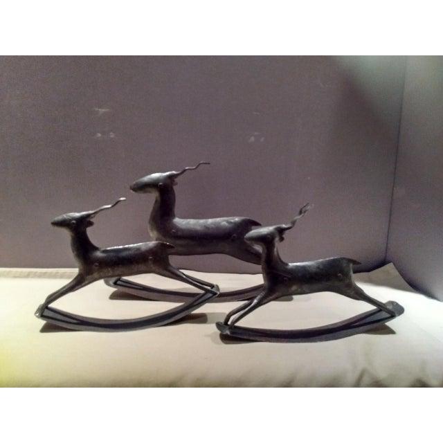 Crate & Barrel Crate & Barrel Metal Deer Figurines - Set of 3 For Sale - Image 4 of 4