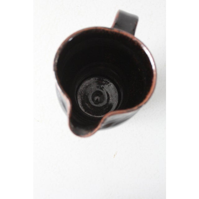 Brown Late 20th Century Vintage Studio Pottery Pitcher For Sale - Image 8 of 10