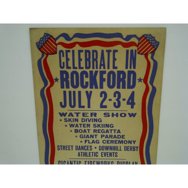 Americana Vintage July 4th Independence Day Poster For Sale - Image 3 of 5