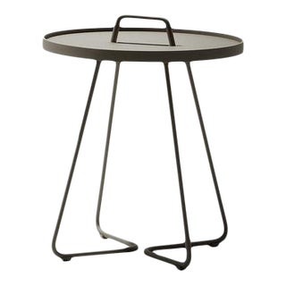 Cane-Line On-The-Move Side Table, Small, Taupe For Sale