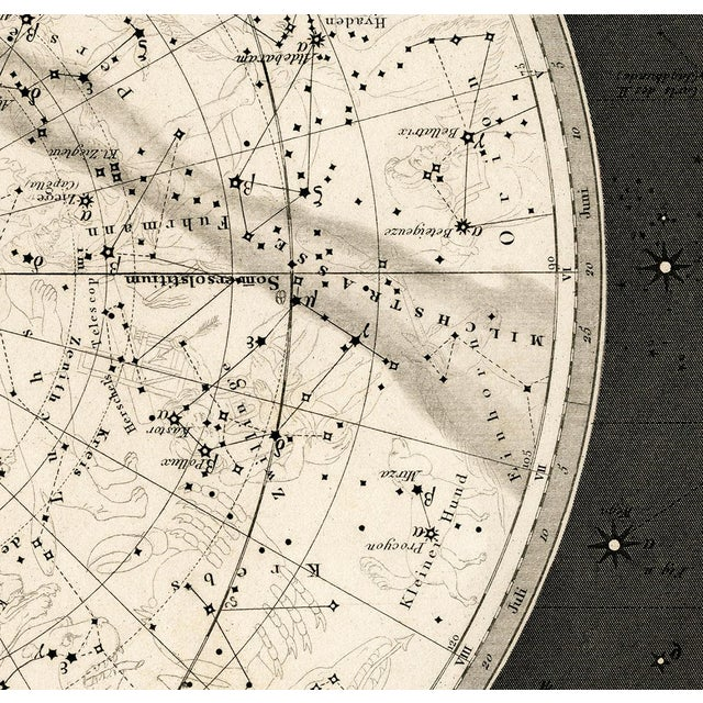 Daylight Dream Editions 19th Century Celestial Map Framed Print For Sale - Image 4 of 7