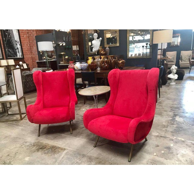Pink 1960s Pair of Marco Zanuso Senior Armchairs for Arflex For Sale - Image 8 of 9