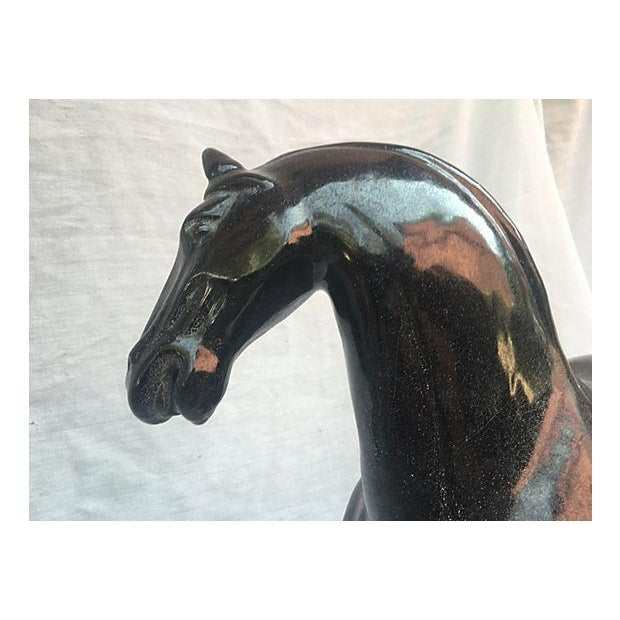 Chinese Tang-Style Black Horse - Image 4 of 6