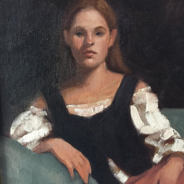 Portrait of a Young Woman Oil Painting - Image 5 of 5