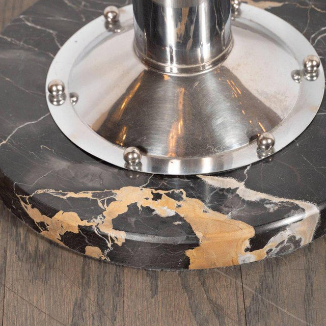 Art Deco Art Deco Machine Age Chrome, Marble and Vitrolite Drinks Table For Sale - Image 3 of 10